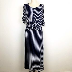 Fantastic Fawn Striped Knotted Waist Knit Dress